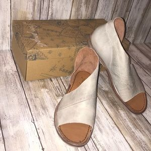FREE PEOPLE MONT BLANC OPEN TOE LEATHER SHOE 35.5
